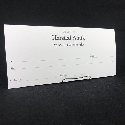 Gift certificates are issued to Harsted Antik